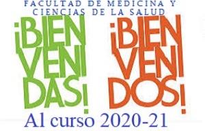 <h3><span style=color:rgb(85,>BIENVENIDA AL CURSO 2020-2021 PRESENTACIÓN A LOS NUEVOS ALUMNOS DE LA FACULTAD DE MEDICINA Y CIENCIAS DE LA SALUD</span></h3>  <div class=row style=box-sizing:> <div class=col-md-8 style=box-sizing:> <p>El próximo día 28 de septiembre comenzamos un nuevo curso académico y, como ya es tradición, la Decana junto a su equipo se presentará y dará la bienvenida a los nuevos estudiantes explicando aspectos fundamentales sobre la vida universitaria, sobre el funcionamiento del Centro y sobre aquellos Servicios de la Universidad que se consideran relevantes para abarcar con las mejores garantías la vida académica de los próximos años.</p>  <p>Mensaje de<strong> <a class=popup href=https://we.tl/t-al7e9lIlxA target=_blank title=Bienvenida del Rector>BIENVENIDA DEL RECTOR</a></strong><span style=color:rgb(32,><span style=color:rgb(31,><span style=color:inherit></span></span></span></p>  <p><span style=color:black></span></p>  <p><strong>Mensajede BIENVENIDA DE LA DECANA DE LA FACULTAD: </strong><a href=https://we.tl/t-7cbTLT5CmY target=_blank>https://we.tl/t-7cbTLT5CmY</a></p>  <p><strong><u>29/09/2020</u></strong></p>  <p><strong>GRADO ENFERMERIA GUADALAJARA:</strong></p>  <p><strong>9:30h</strong><a href=https://eu.bbcollab.com/guest/cc9c2c8b40604b9b99496a7c1150c322 target=_blank>https://eu.bbcollab.com/guest/cc9c2c8b40604b9b99496a7c1150c322</a></p>  <p></p>  <p></p> </div> </div>