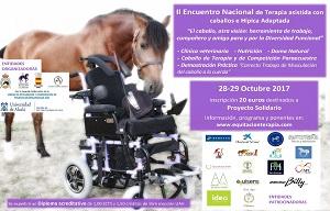 <p>II Encuentro Nacional de Terapia asistida con caballos e H&iacute;pica adaptada.</p>  <p>&nbsp;</p>