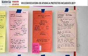 <p>Queremos informaros del<strong>lanzamiento de laVIIIConvocatoriade Ayudas a Proyectos Inclusivos FUNDACIÓN UNIVERSIA y FUNDACIÓN KONECTA. </strong>Yaestá abierto el plazo de inscripción a la Edición 2019, donde seconvocan 50.000 eurosen ayudas económicas para la realización de Proyectos inclusivos que contribuyan a fomentar y promover la participación social y laboral de personas con discapacidad.</p>  <p><strong>Las entidades interesadas </strong><strong>(Universidades, asociaciones, fundaciones, confederaciones, cooperativas... sin ánimo de lucro) </strong><strong>deben presentar su proyecto entre el 26 de marzo y el 20 de mayo de 2019 a las 17:00 (hora peninsular), ambos incluidos.</strong>Una misma entidad puede presentar varios proyectos diferentes en distintas categorías.</p>  <p>Los proyectos inclusivos deberán desarrollarse en alguno de los siguientes cinco ámbitos de actuación o categorías: Empleo, Educación, Investigación, Cultura y Deporte.</p>  <p><strong>¿Estás interesadx? Toda la información y registro en el siguiente enlace:</strong><br /> <strong><a href=http://www.fundacionuniversia.net/proyectos-inclusivos id=LPlnk304085 target=_blank>www.fundacionuniversia.net/proyectos-inclusivos</a></strong></p>  <p>No dudes en contactar con nosotros para las dudas que puedan surgir.<br /> Además, os confirmamos que hemos creado un espacio de trabajo donde poder generar las sinergias que hagan crecer los proyectos y resolver todas las dudas sobre la nuevaConvocatoriade Ayudas a Proyectos Inclusivos 2019.</p>  <p><span style=color:black>Puedes utilizar el siguiente enlace para unirte al espacio de trabajo, ¡y solo tardarás un minuto en crear tu cuenta!<br /> Usa este enlace para empezar:</span><a href=https://bit.ly/2Uz52rq id=LPlnk233303 target=_blank>https://bit.ly/2Uz52rq</a></p>  <p><span style=color:black></span>¡Comenzamos!</p>